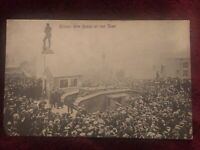 Antique WWI Valentine's Series Postcard - Buying War Bonds at The Tank