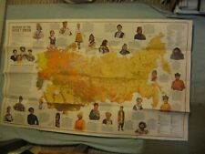 VINTAGE PEOPLES OF THE SOVIET UNION MAP February 1976 National Geographic