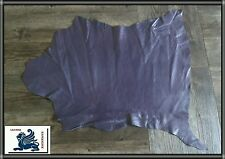 Ziegenleder Lila Aubergine Lederhaut Echt Leder Polsterleder 55x50cm ~0,8 mm LN8