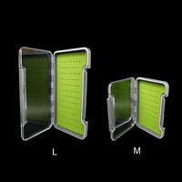 Silicone 100%Waterproof Fly Fish Box Slim Transparent Box Silicone Slit Storage
