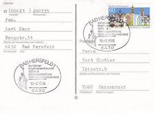Alemania Occidental 1986 Bad Hersfeld Sello Club 25th aniversario Postal usado en muy buena condición