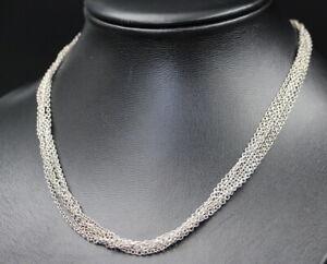 Exklusive HALSKETTE / COLLIER  | 6-reihig | 42cm | 925er Sterling Silber