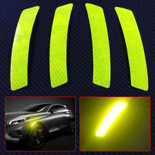 4x Fluorescence green Car Wheel Eyebrows Reflective Sticker Warning Sign Decal