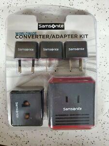 Samsonite Converter/Adaptor Plug Kit With Pouch  NEW *