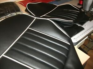 MGB ROADSTER LEATHER FRONT SEAT COVERS 1962-1968 NON RECLINERS SUPER QUALITY