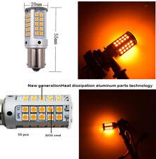 2pcs Amber BAU15S 7507 PY24W LED Bulbs for Car Front or Rear Turn Signal Light