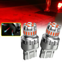 2x T20 7443 7440 Red LED Flash Blinking Rear Brake Tail Light Bulbs Accessories