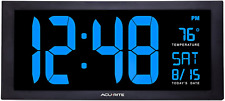 AcuRite Oversized Viewable Led Clock Indoor Temperature,Date,Fold-Out Kickstand