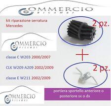 x serratura Mercedes classe C W203 2000 2007 ant. post. sx e dx Kit riparazione