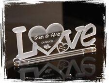 1 Aufsteller LOVE 2  mit Wunschgravur Acryl Liebe Hochzeit Valentinstag Geschenk