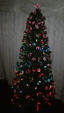 6FT Pre lit Fibre Optic star  Christmas Tree  express gifts colour changing tree