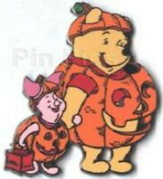 Winnie the Pooh Disney Pin 22617 DLR Halloween Costume Pumpkins 2001 Piglet LE