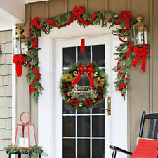 11.81'' Christmas Wreath Hanging Garland Ornament for Xmas Party Door Tree Decor