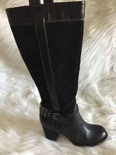Naturalizer N5 Comfort Womens GLASSY Knee High Boots Leather Black 7M Studded