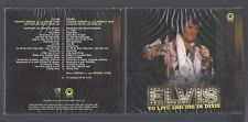 ELVIS TO LIVE AND DIE IN DIXIE LAS VEGAS 19/2/1972 DS & MS 2 CDS DIGIPACK SEALED