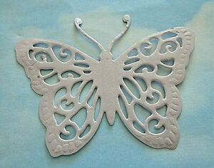 Die cut large butterfly x 8, lilac pearl card