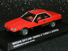 Kyosho 1/43 Nissan Skyline 2 Door Sports Coupe (KDR30) Red/Black MiB