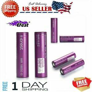 EF 4/8Pcs 3500mah 3.7V IMR Rechargeable Battery High Drain Battery Purple