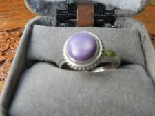 Sterling Silver Charoite Ring Size 6.5