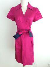 """DVF Diane von Furstenberg Silk Blend """"Hutton"""" Wrap Dress Fuchsia Size 6 NWT"""