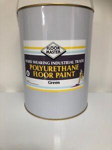 FLOOR MASTER GARAGE/WORKSHOP FLOOR PAINT 5LT GREEN Used By the Professionals.
