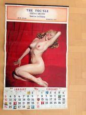"Famous Original Vintage Calendar of a nude Marilyn Monroe 1954 ""Golden Dreams"""