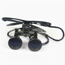 Black New Dental Surgical Medical Binocular Loupes 3.5X 420mm Loupes Magnifier