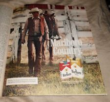 1982 Near Mint Print Ad Poster Come to Marlboro Country Cowboy Horse Walking