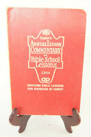 Teacher's Annual Lesson Commentary on Bible School 1954 Book Churches Christ