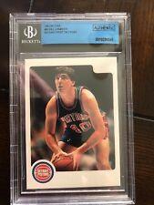 1983-84 Star Company (ERROR) BILL LAIMBEER card #90 (NO LOGO/TEAM/NAME) BGS AUTH