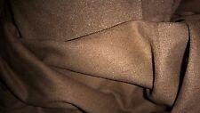 stoffa spessa pesante e estensibile daino liscia velluti colletto marrone taupe