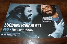 LUCIANO PAVAROTTI - Plan média / Press kit !!! THE LAST TENOR !!!