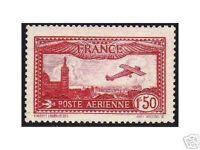 """FRANCE AERIEN 1930  Y&T 5  """"1F50 CARMIN"""",  NEUF xx TTB"""