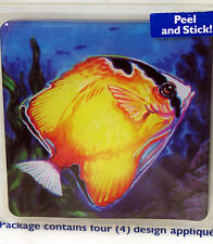 Water World Fish Art Decals Stickers Tile Bath Tub Appliques Shower Cover Tiles