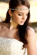Bridal Crystal Headband Headpiece Gown Belt Sash Ribbon