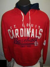 St. Louis CARDINALS PULL OVER Franchise Hoody w Sewn Logos MED LG XL RED