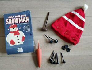Restoration Hardware Build Your Own Snowman Kit w/original box