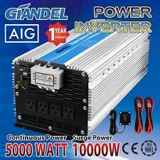 Power Inverter Modified Sine Wave 5000W 12 V to 110 V-120 V with 4.5M Remote