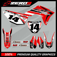 Custom MX Graphics Kit: HONDA CR CRF Motocross Graphics 125-450 / FAC15 - BLK