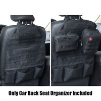 Tactical Car Seat Back Cover Organizer Storage Molle Vehicle Panel Pouch Black