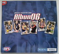 AFL & Herald Sun Official COLLECTOR CARD ALBUM 2006 & Complete Set of 192 Cards