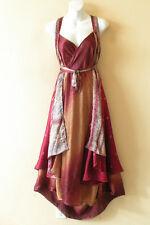 "E423 Vintage Silk Magic 36"" Women Kariza Style Boho Wrap Skirt Tube Dress + DVD"