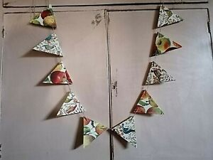 WOODEN BUNTING MADE WITH EMMA BRIDGEWATER DESIGN COUNTRY KITCHEN GARLAND APPLES