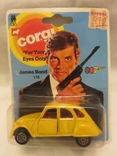 Vintage Corgi Jr #115 James Bond 007 Citroen 2CV6 Yellow DieCast Original