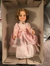 "Ideal Shirley Temple Doll In Box 1982 10"" Pink Dress Unused Sweet Necklace"