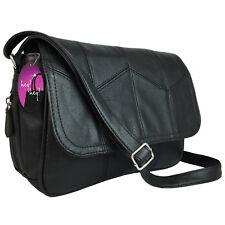 Organiser Handbag Compartments Ladies Cross Across Body Bag Long Shoulder Strap