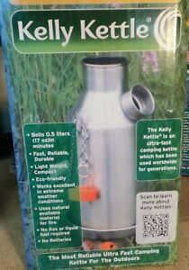 Kelly Kettle - Camp Stove - Stainless Steel - Boils Water Within Minutes