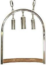 Caitec- STAINLESS STEEL CHIME SWING ( the African Grey Delight)