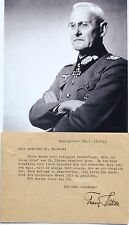 General Franz Halder Promient German WW II Commander Autograph ''Rare''