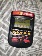 New Listing1995 Yahtzee Handheld Electronic Game Clear Grey 4511 Milton Bradley Works